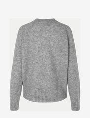 Second Female - Brook Knit Boxy Cardigan - cardigans - grey melange - 1
