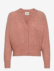 Second Female - Brook Knit Boxy Cardigan - koftor - light mahagony - 1