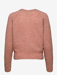 Second Female - Brook Knit Boxy Cardigan - koftor - light mahagony - 2