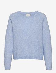 Second Female - Brook Knit O-Neck - tröjor - brunnera blue - 0