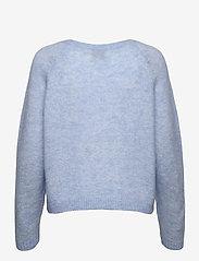 Second Female - Brook Knit O-Neck - tröjor - brunnera blue - 1