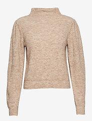 Second Female - Alli Knit T-Neck - tröjor - hazelnut - 0