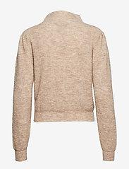Second Female - Alli Knit T-Neck - tröjor - hazelnut - 1