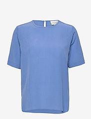 Second Female - Tonga Silk SS T-Shirt - t-shirts - blue bonnet - 1