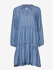 Second Female - Lilla LS Dress - denimkjoler - blue denim - 1
