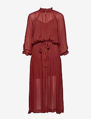 Second Female - Tul SS Long Dress - midi kjoler - henna - 1