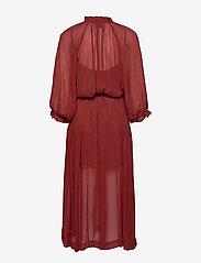 Second Female - Tul SS Long Dress - midi kjoler - henna - 2