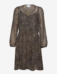 Second Female - Real LS Short Dress - midi kjoler - black - 1