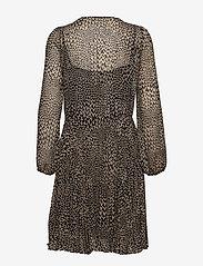 Second Female - Real LS Short Dress - midi kjoler - black - 2