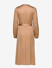 Second Female - Berri LS Wrap Dress - omlottklänningar - praline - 1