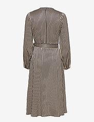 Second Female - Ed LS Wrap Dress - omlottklänningar - black - 1