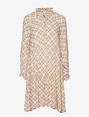 Second Female - Katt LS Midi Dress - midi kjoler - creme de peche - 0