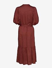 Second Female - Aimee SS Midi Dress - midi kjoler - henna - 2