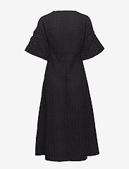 Second Female - Milly SS Dress - midiklänningar - black - 1