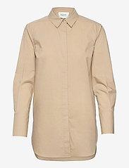 Second Female - Larkin LS Classic Shirt - långärmade skjortor - humus - 0