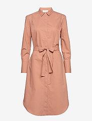 Second Female - Larkin LS Midi Shirt Dress - midiklänningar - mocha mousse - 0
