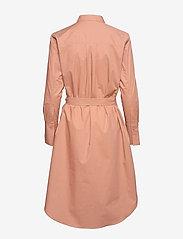 Second Female - Larkin LS Midi Shirt Dress - midiklänningar - mocha mousse - 2