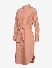 Second Female - Larkin LS Midi Shirt Dress - midiklänningar - mocha mousse - 3