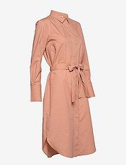 Second Female - Larkin LS Midi Shirt Dress - midiklänningar - mocha mousse - 4