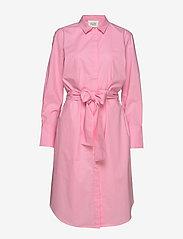 Second Female - Larkin LS Midi Shirt Dress - skjortekjoler - prism pink - 0