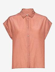 Second Female - Auso Shirt - kortermede skjorter - mocha mousse - 1