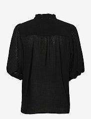 Second Female - Tara SS Shirt - kortärmade blusar - black - 1