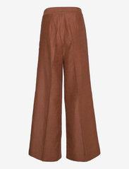 Second Female - Lia Trousers - vide bukser - carob brown - 2