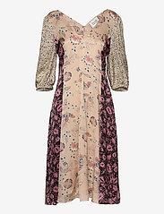 Second Female - Neomi SS Dress - midiklänningar - cream tan - 0