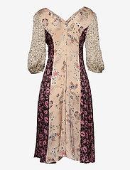 Second Female - Neomi SS Dress - midiklänningar - cream tan - 1