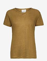 Second Female - Peony New O-Neck Tee - t-shirts - butternut - 0