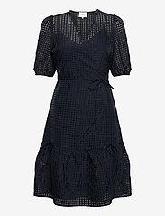 Second Female - Vilda Dress - korta klänningar - navy - 1