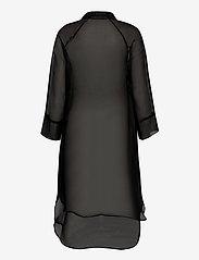 Second Female - Opal Shirt Dress - midiklänningar - black - 2