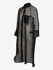 Second Female - Opal Shirt Dress - midiklänningar - black - 3