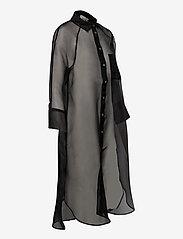 Second Female - Opal Shirt Dress - midiklänningar - black - 4