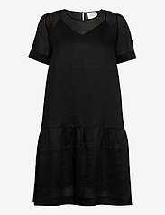 Second Female - Aida Dress - midiklänningar - black beauty - 0