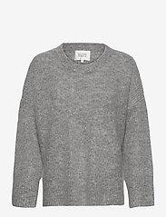 Second Female - Koorb Knit O-Neck - tröjor - grey melange - 0