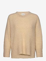 Second Female - Koorb Knit O-Neck - trøjer - marzipan - 1