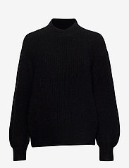 Second Female - Galia Knit T-Neck - trøjer - black - 0