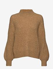 Second Female - Galia Knit T-Neck - trøjer - bone brown - 0