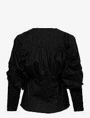 Second Female - Addison Shirt - långärmade blusar - black - 1