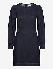 Second Female - Antoinet Dress - fodralklänningar - dark blue denim - 1