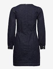 Second Female - Antoinet Dress - fodralklänningar - dark blue denim - 2