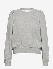 Second Female - Carmella Sweat - sweatshirts - light grey melange - 1