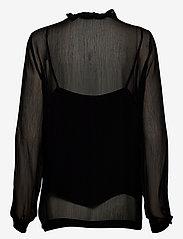 Second Female - Tul Blouse - långärmade blusar - black - 1