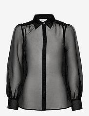 Second Female - Opal Shirt - långärmade blusar - black - 1