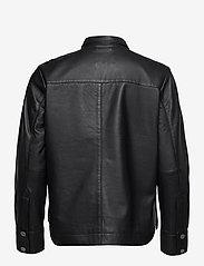 Second Female - Gitte Leather Shirt - langærmede skjorter - black - 2