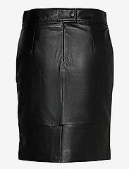 Second Female - Francie Mini Leather Skirt - pennkjolar - black - 1