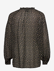 Second Female - Della Blouse - long sleeved blouses - caviar - 1