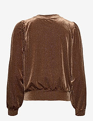 Second Female - This long sleeved sweater is made in a beautful,  structured - långärmade blusar - sepia tint - 1