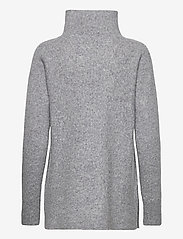 Second Female - This knit with T-neck is made in a soft wool  blend. It has - rullekraver - light grey melange - 1
